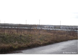 The B4 site, the largest of the three planned car parks. Part of the site is already used for car parking.